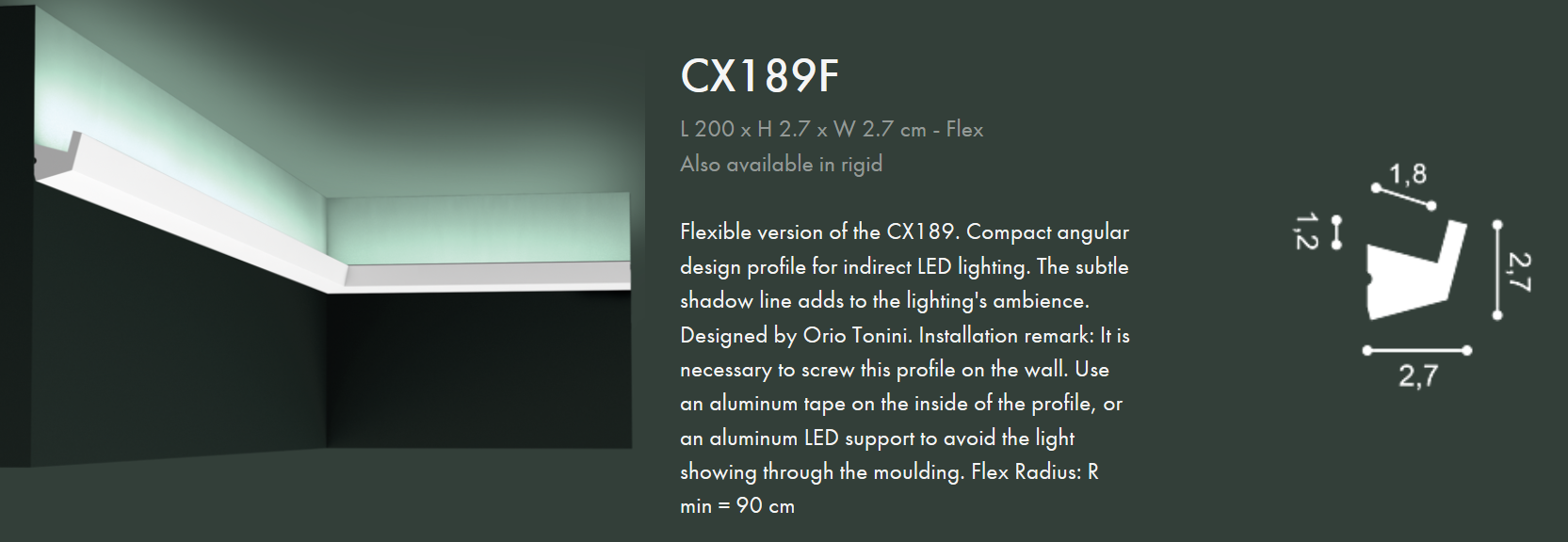 www.archiprofiles.com.au Orac CX189 Flexible