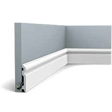 Flexible version of the SX137. This medium-tall, rounded profile provides your wall with an elegant finish. Thanks to its Flex technology, curved walls and surfaces are no problem. Installation remark: It is necessary to screw this profile on the wall. Flex Radius: R min = 40 cm