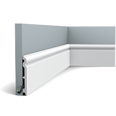 Flexible version of the SX138. This tall, rounded profile provides your wall with a classic finish. Thanks to its Flex technology, curved walls and surfaces are no problem. Installation remark: It is necessary to screw this profile on the wall. Flex Radius: R min = 40 cm